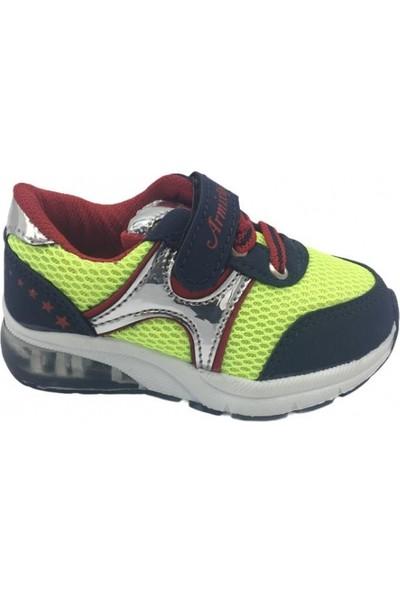 Armix 164 Laci Neon Cırtlı Çocuk Spor Ayakkabı