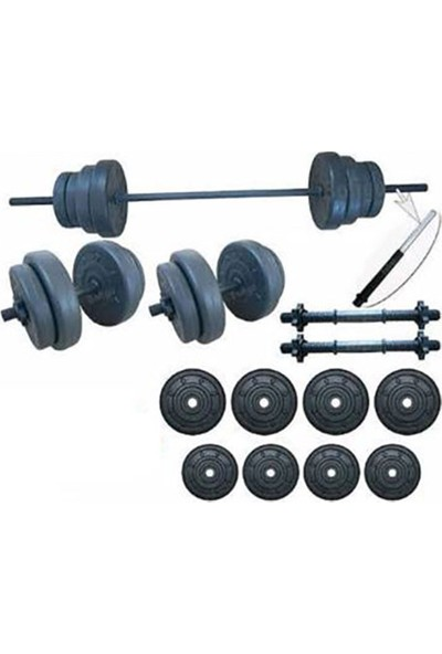 Ser Spor 35 kg Vidalı Halter Dambıl Seti
