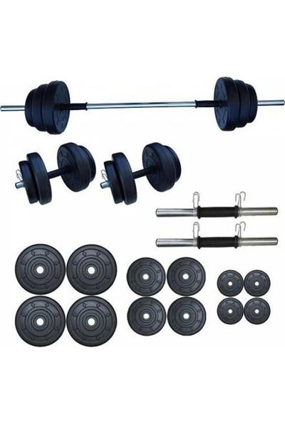 Ser Spor 65 kg Yaylı Halter Seti Dambıl Seti