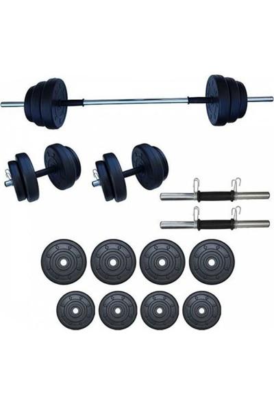 Ser Spor 35 kg Yaylı Halter Dambıl Seti