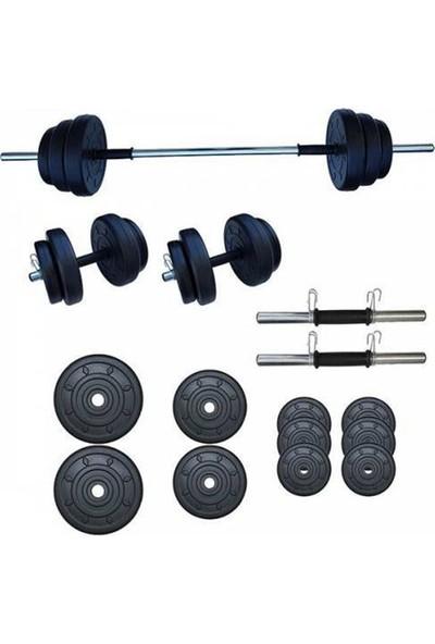 Ser Spor 45 kg Yaylı Halter Dambıl Seti