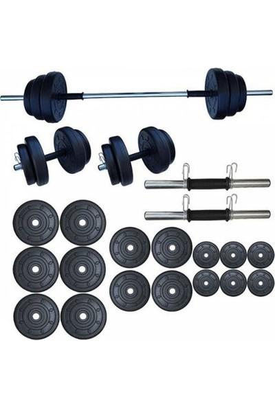 Ser Spor 85 kg Yaylı Halter Seti Dambıl Seti