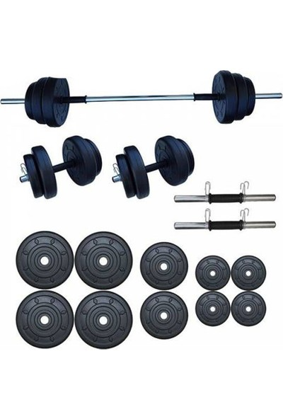 Ser Spor 55 kg Yaylı Halter Seti Dambıl Seti