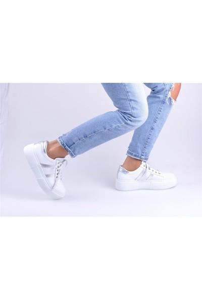 Masis Enzio Beyaz Deri Spor Ayakkabı