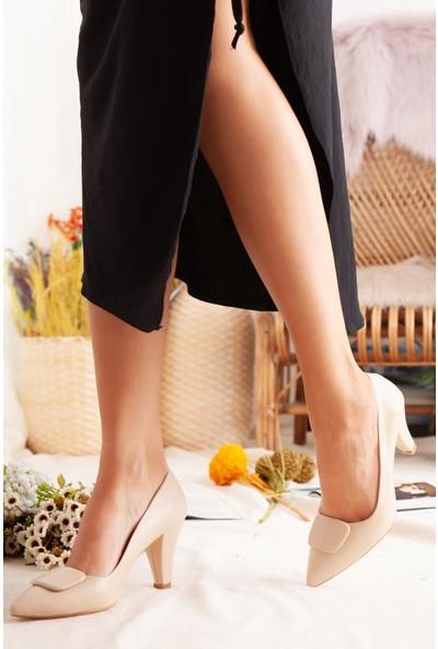Limoya Scarlet Ten Tokalı Kısa Topuklu Stiletto