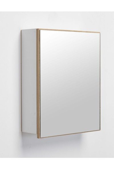 Hepsi Home Saydam Evita MDF Banyo Dolabı 50 cm Meşe Beyaz