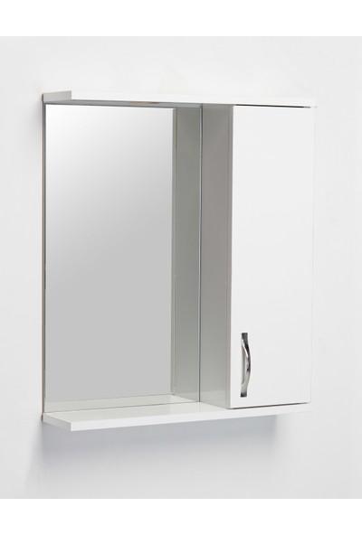 Hepsi Home Saydam Evita MDF Banyo Dolabı 60 cm Beyaz