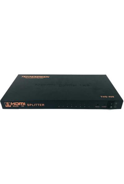 Teknogreen THS-408 8 Port 4K HDMI Splitter