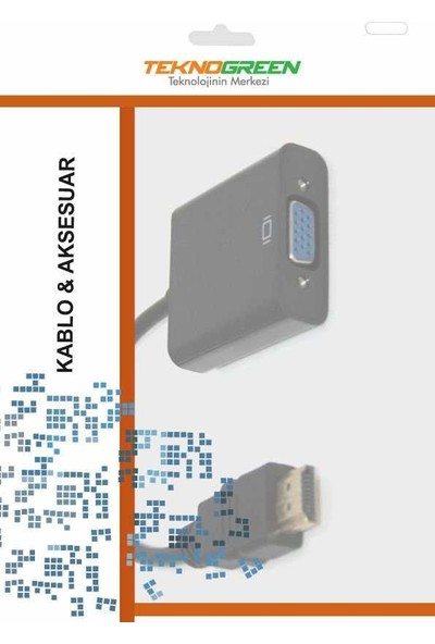 Teknogreen TKD-333 HDMI To VGA + 3.5 Stereo Kablo