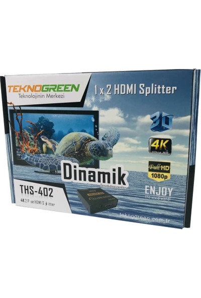 Teknogreen THS-402 2 Port 4K HDMI Splitter