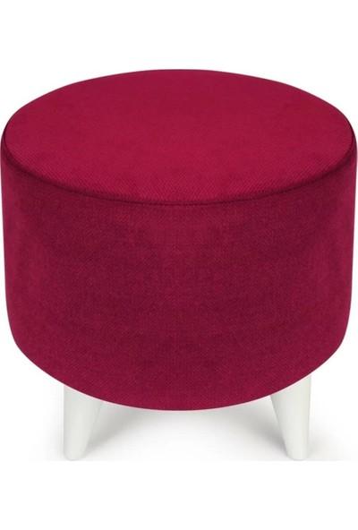 Mormela Puf - Silindir Puf (Kırmızı)