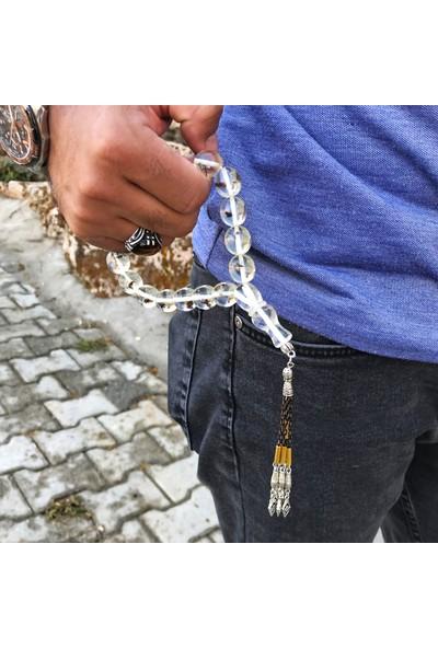 Midyat Nurtaş Gümüş Karınca Fosilli Maskot Boy Toz Kehribar Tesbih