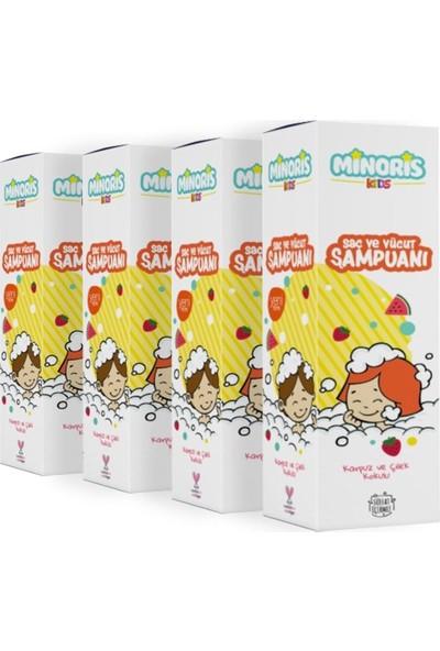 Minoris Kids Organik Vücut ve Saç Şampuanı 4'lü Set