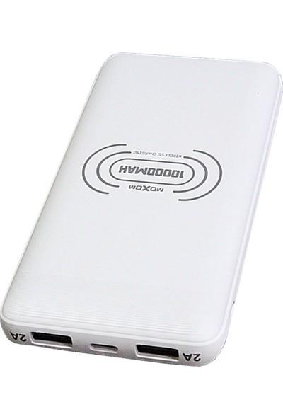 Moxom Mi-14 Kablosuz Power Bank 10000 Mah Beyaz