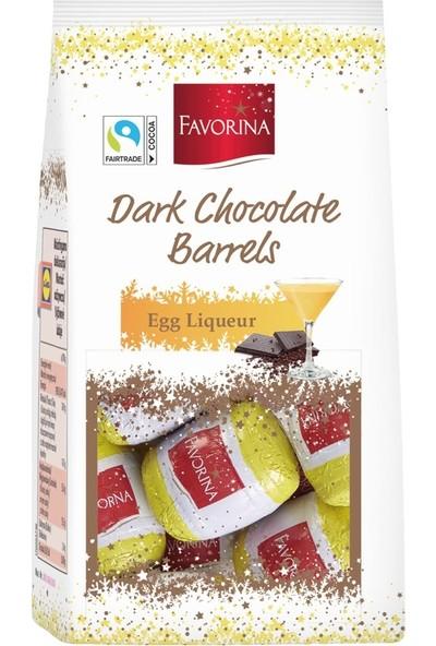 Favorina Dark Chocolate Barrel Egg Liqueur Bitter Çikolata Fıçı Yumurta Likörü Çikolata 150 gr