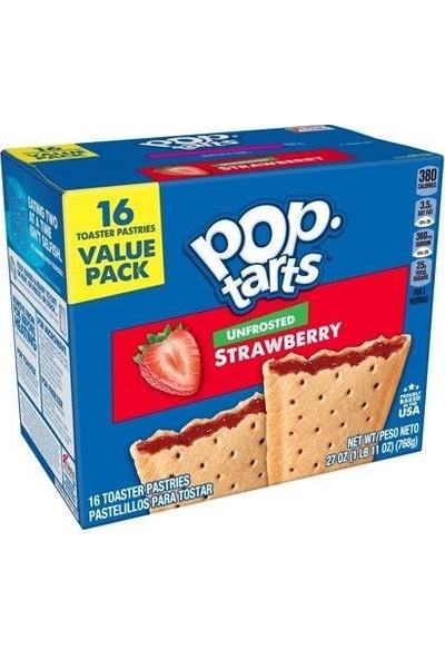 Pop Tarts Unfrosted Strawberry 16'lı Çilekli Tart 768 gr
