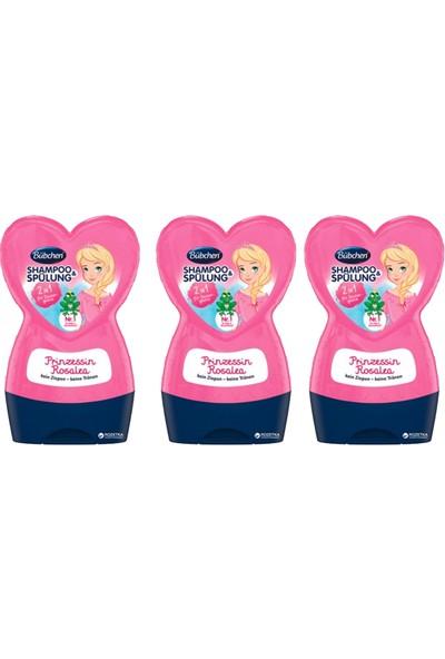 Bübchen Prenses Rosalea Çocuk Şampuanı + Balsam 230 ml x 3 Adet