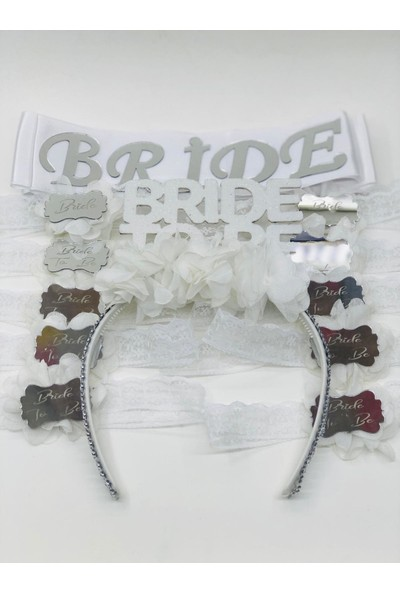 Bizim Süs Evi Bride To Be Taç Kuşak Bileklik