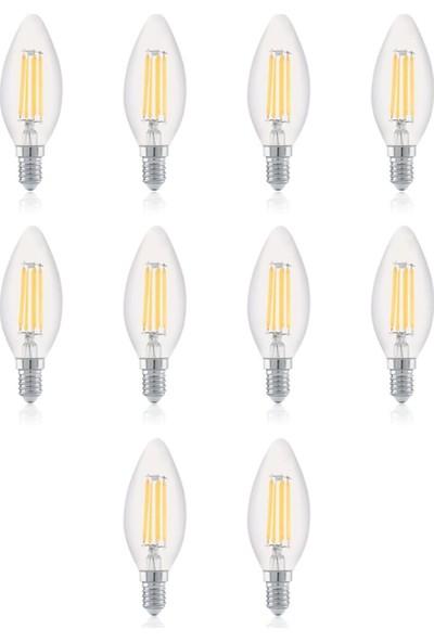 Heka 4W E14 C 35 Dimlenebilir Rustik LED Ampul 10'lu Paket ERD25