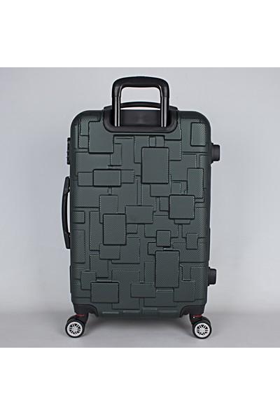 Bagacar LEGO 8 Tekerlek Fiber Abs Valiz Seti Yeşil