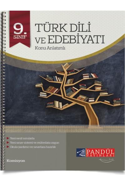 9. Sınıf Türk Dili ve Edebiyatı Defteri Pandül Yayınları
