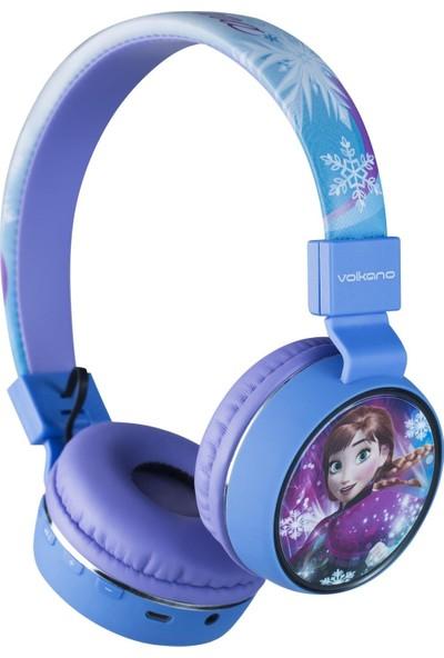 Volkano Disney Frozen Karlar Ülkesi Anna Elsa Bluetooth Kulak Üstü Kulaklık DY-1006-FR