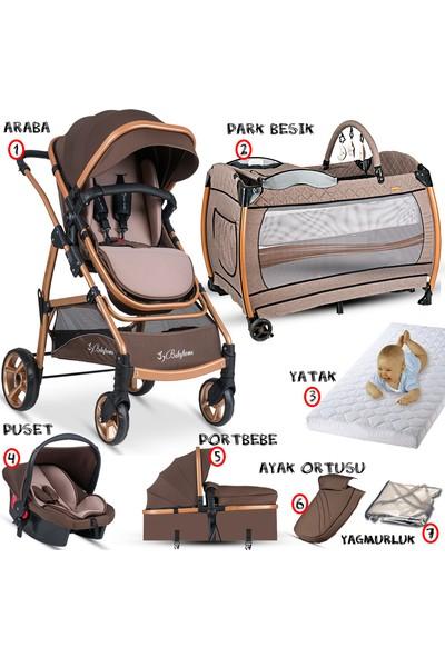 Baby Home 855 Gold Seyahat Travel Sistem Bebek Arabası 600 Nanny Oyun Parkı Yatak Beşik