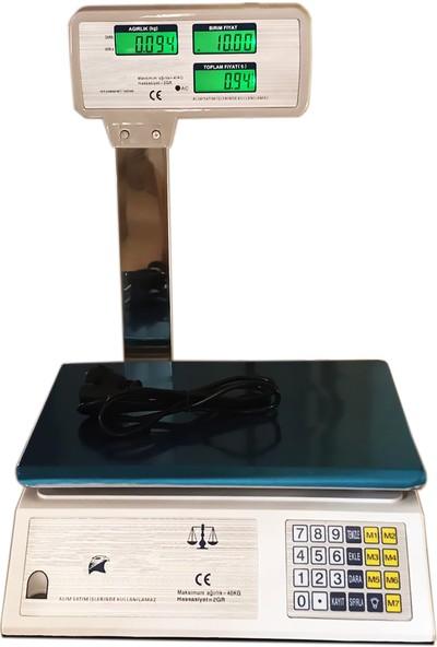 Bydiz Acs-30 Kollu Dijital Çift Ekranlı Akülü Terazi 40 kg 2 gr Hassasiyetli Tartı