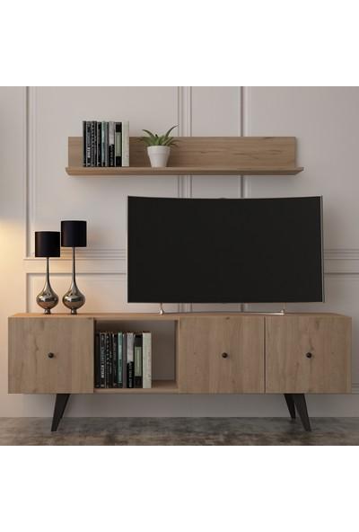 COOLHOME Tarz TV Ünitesi Meşe (160 cm)