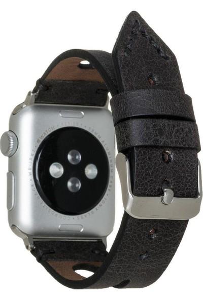 Burkley Apple Watch Deri Kordon 42 ve 44 mm Uyumlu 42BA2 Tn1 Siyah