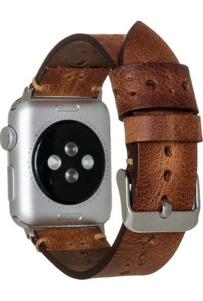 Burkley Apple Watch Deri Kordon 42 ve 44 mm Uyumlu 42BA8 TN11EF Taba