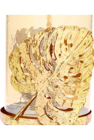 Vitale Fawna Yapraklı Dekoratif Mumluk 17X31 cm