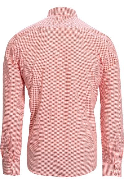 Lufian Liam Smart Gömlek Slim Fit Kırmızı