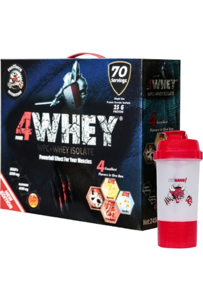 Protouch Nutrition Protein Tozu 4WHEY 2450 gr 70 Servis Bir Kutuda 4 Aroma