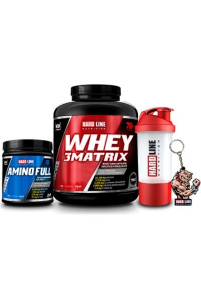 Hardline Nutrition Hardline Whey 3 Matrix 2300 gr + Amino Full 300 Tablet + Shaker 600 ml + 3D Maskot Anahtarlık