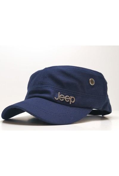 Perlotus Jeep Model Castro Tarzı Şapka Lacivert
