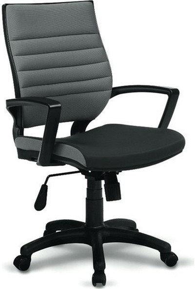 Asbir Rigel 55500 Çalışma Koltuğu Ofis Koltuğu Çalışma Sandalyesi Gri-Siyah