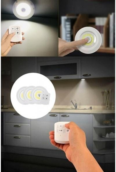 İstoç Yapı Market Uzaktan Kumandalı Yapışkanlı 3'lü LED Spot Lamba
