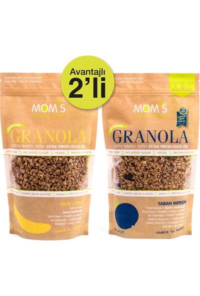 Mom's Natural Foods Ikili Granola Yaban Mersini 360 gr - Muz-Ceviz 360 gr