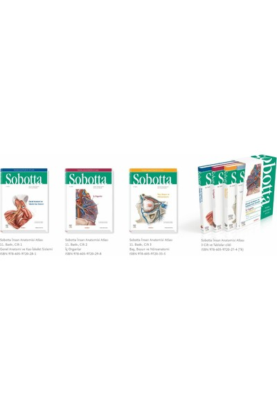 Medipres Yayıncılık Sobotta Insan Anatomisi Atlası 4 Cilt