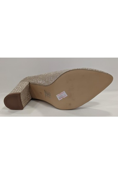 Beety 25.6201 Simli Kalın Topuk Stiletto Klasik Ayakkabı