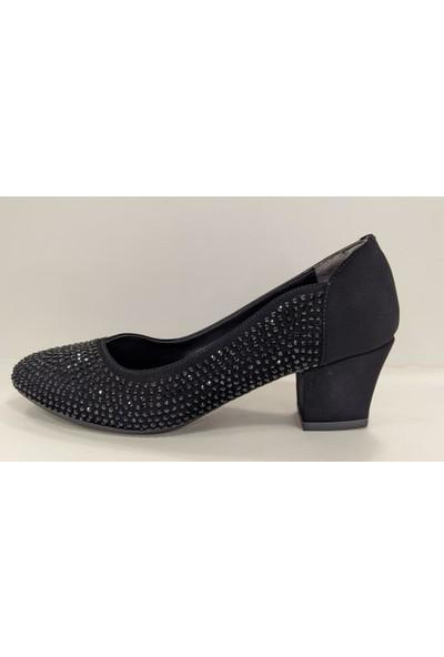 Beety 23.8670 Kalın Topuk Taşlı Abiye Klasik Ayakkabı