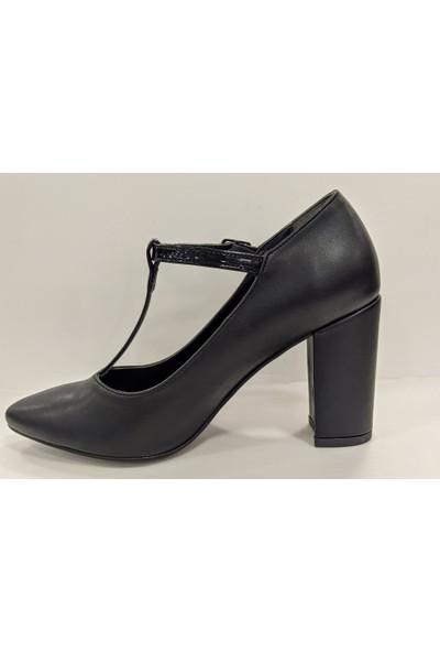 Beety 25.105 Kalın Topuk Bilekten Bağlamalı Abiye Ayakkabı