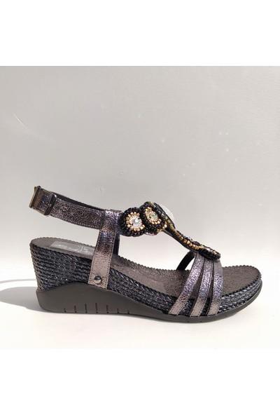 Guja 275-5 Dolgu Topuk Bilekten Bağlı Günlük Kadın Sandalet