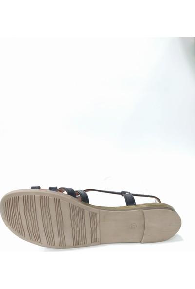 Bablisok Mona-1 Ince Taban Deri Bodrum Sandalet