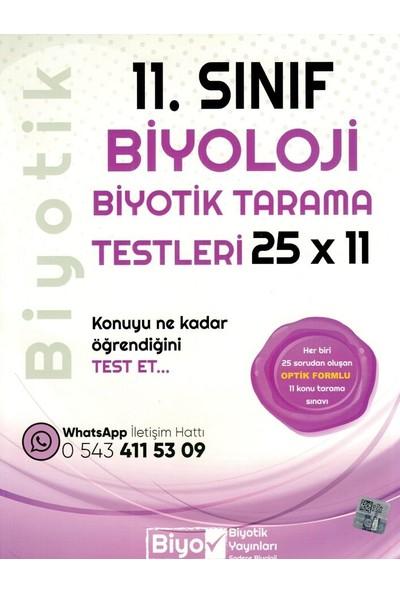 Biyotik Yayınları 11. Sınıf Biyoloji 25 X 11 Biyotik Tarama Testleri