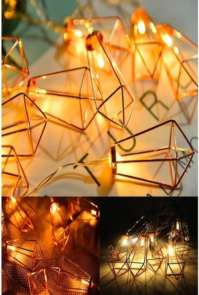 Deconorm Parti ve Özel Gün Dekorasyonu Kandil Şeklinde Metal Şerit LED