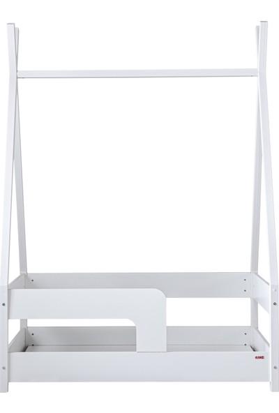 Kanz Vista Beyaz 80x130 Montessori Karyola Tenteli