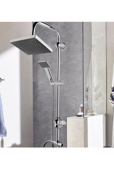 Euromix Siyah Robot Yağmurlama Tepe Duş Seti Başlığı
