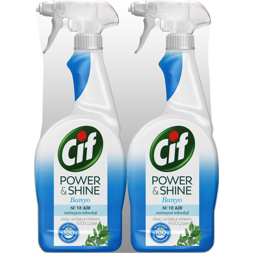 Cif Power & Shine Banyo Sprey Temizleyici 750 ml 2'li Set